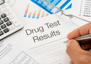 Results for a drug test